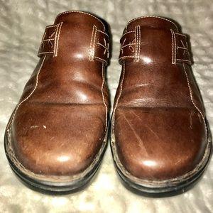 Slide On Leather Clark's Clog